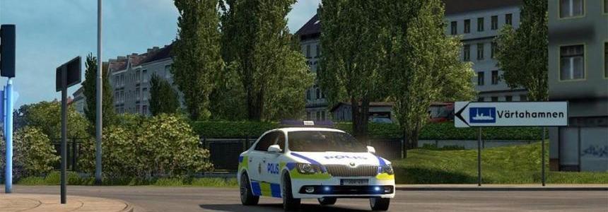 Swedish Police Skoda Superb