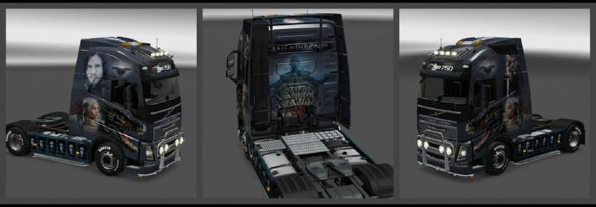 Volvo FH 2012 Game of Thrones Skin 1.23