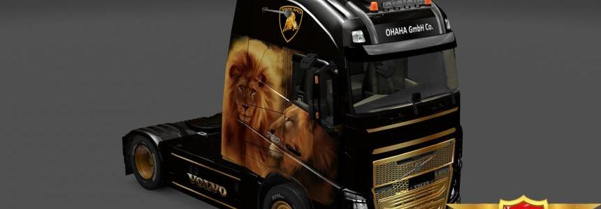 Volvo FH 2013 Gold Lione skin 1.23