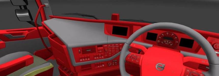 Volvo FH Red Interior & Grey Light 1.23