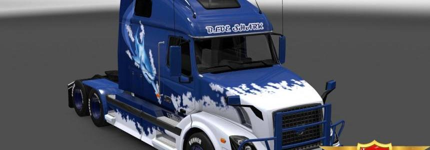 Volvo VNL 670 Blue Shark skin 1.23