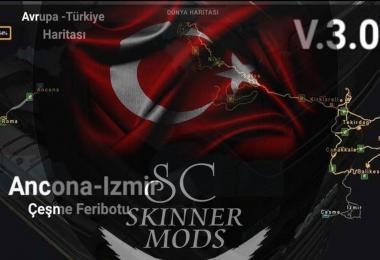 Europe & Turkey Map v3.0.1