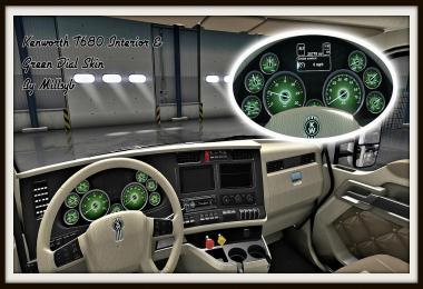 Kenworth T680 Interior & Green Dial Skin
