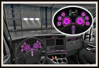 Kenworth T680 Interior & Pink Dial Skin