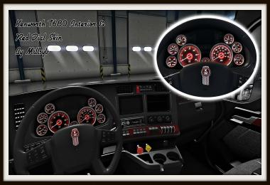 Kenworth T680 Interior & Red Dial Skin