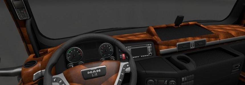 MAN TGX Black/Brown Interior v1