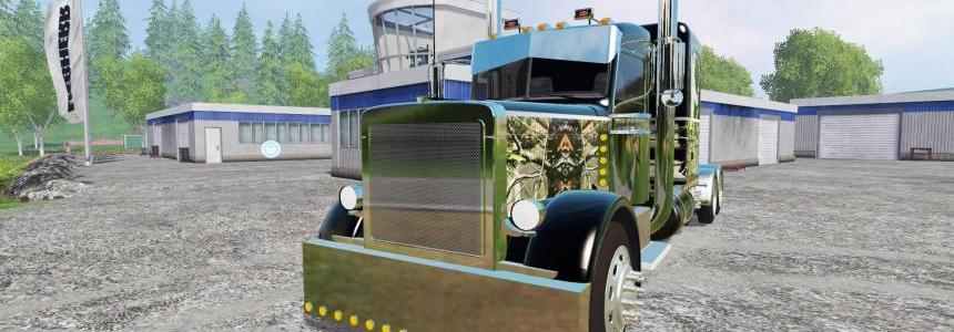 Custom PeterBilt 388 W/ Trailer (Edited) Wolf Edition
