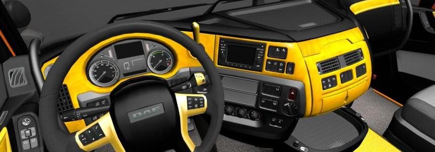 DAF XF Euro 6 Yellow/Black Interior v1