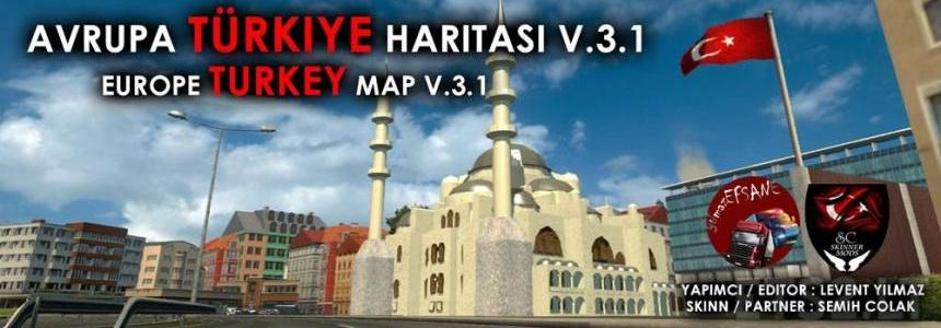Europe & Turkey Map v3.1
