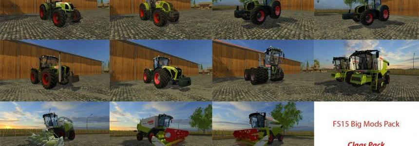 FS15 Big Mods Pack V12 Claas Pack V1
