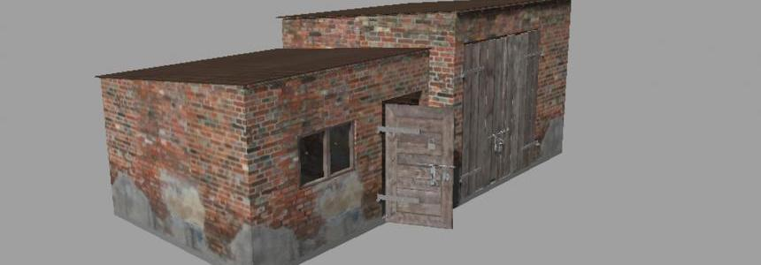 Garage with chicken coop