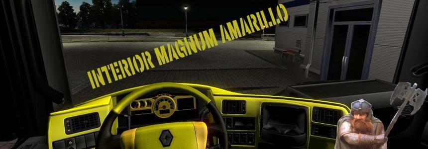 Interior Renault Magnum Amarillo 1.24.x