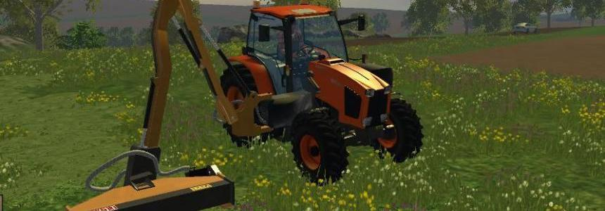 Kubota MT35GX with Side Mount Mower  v1