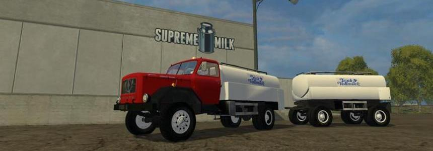 Magirus milk Truck with trailer v1.0