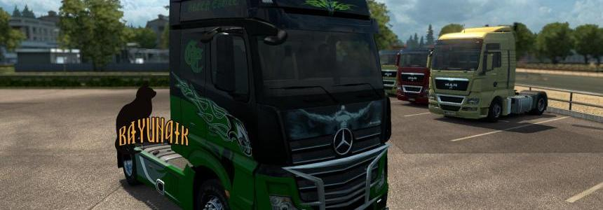 Mersedes Benz New Actros Green Eagle skin 1.24