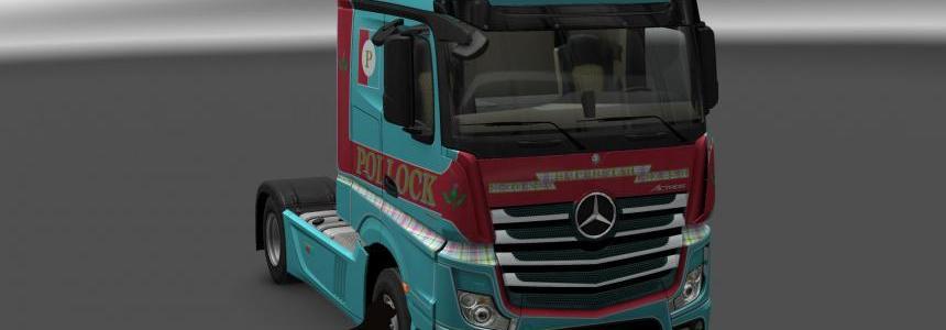 Mersedes Benz New Actros Pollock skin 1.24