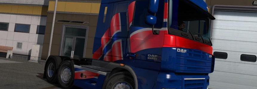 Norwegian Paint Jobs Pack for DAF XF by 50k v1.0