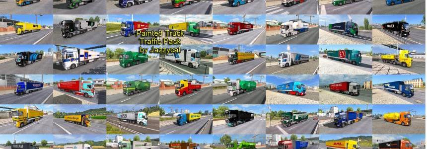 Painted Truck Traffic Pack by Jazzycat  v2.2.2