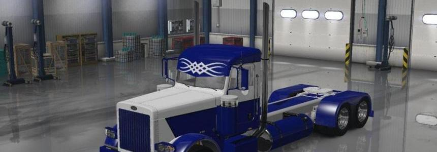 Peterbilt 389 Blue and White Skin update