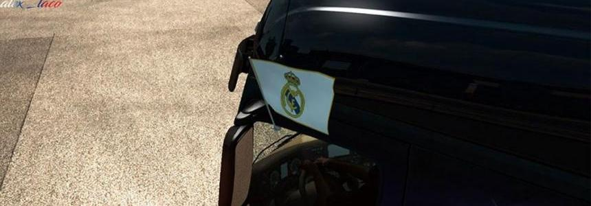 Real Madrid Flag on side windows