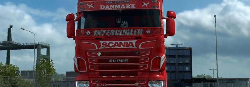 Red Illusion skin for Scania RJL 1.24