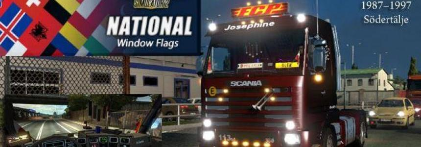 Scania 143m 1.24.x National Window Flags