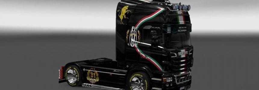 Scania R2009 Juventus Skin v1.0