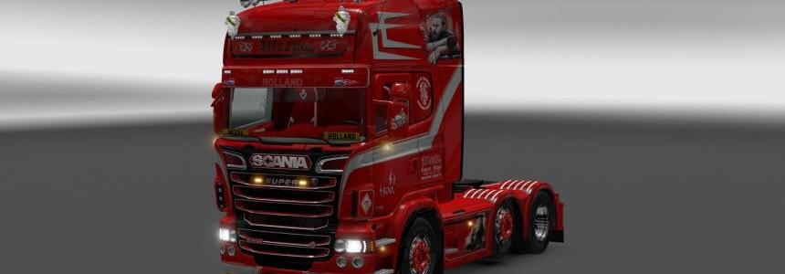 Scania RJL 1.5.2 with V8K animation and weeda interrior