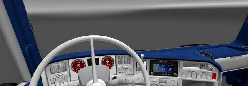 Scania RJL White-Blue Interior