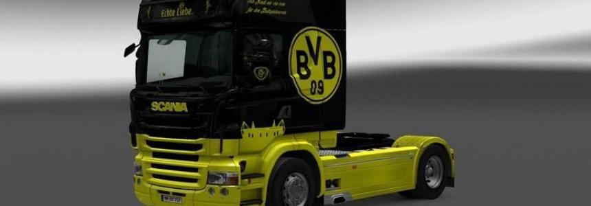 Scania RLJ Borussia Dortmund Interior + Skin V 1.24