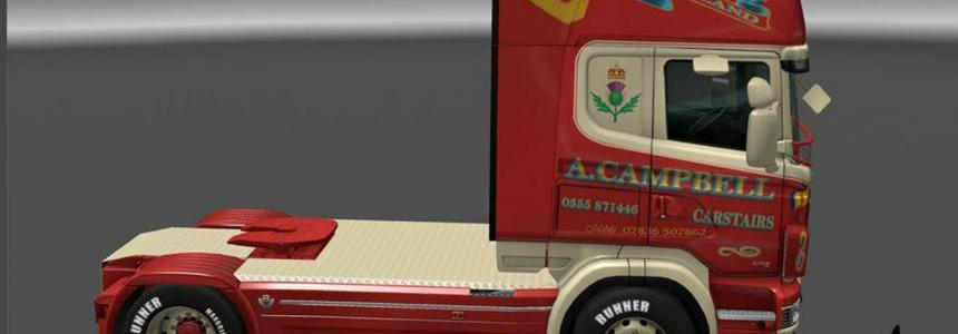 Scania R&S Topline A.Campbell skin 1.0