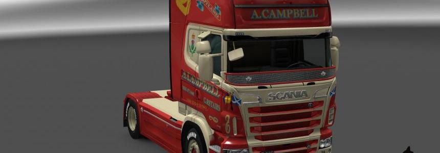 Scania R&S Topline A.Campbell skin 1.23