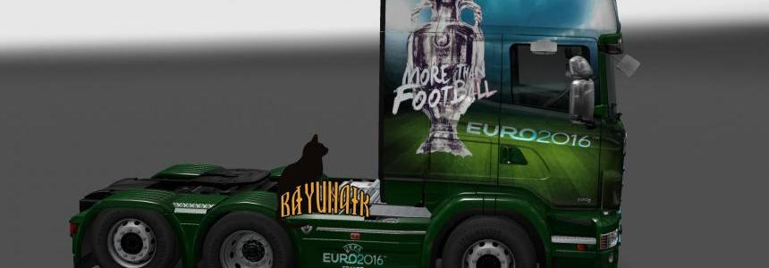 Scania R&S Topline Football skin 1.24