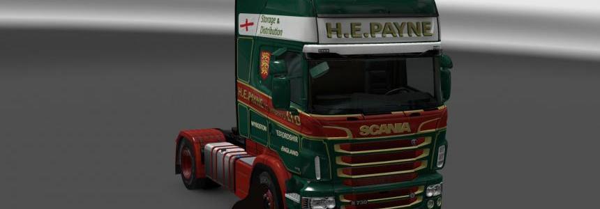 Scania R&S Topline H.E.Payne green skin 1.24