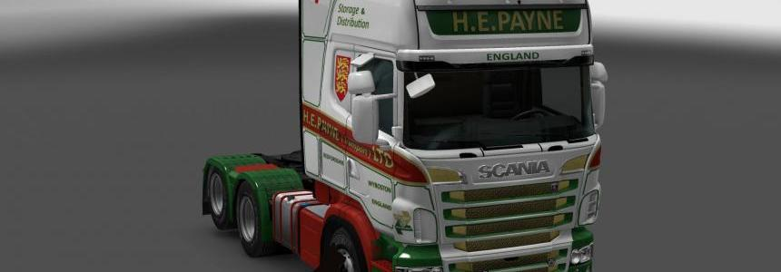 Scania R&S Topline H.E.Payne skin 1.24