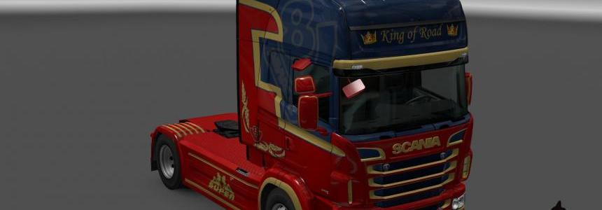 Scania R&S Topline King of Road skin 1.23