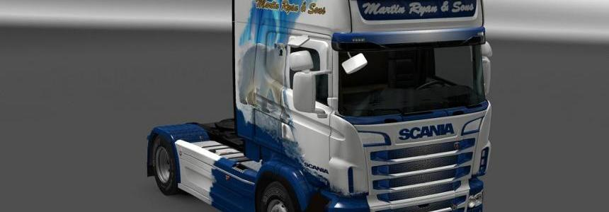 Scania R&S Topline Polar Bear skin 1.24