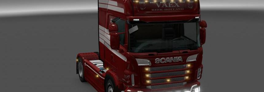 Scania R&S Topline red  Vaex skin 1.24