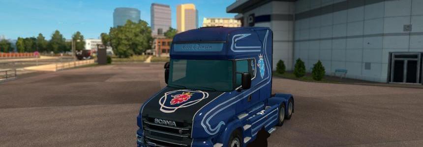 Scania T series metallik Ebbe K.Jensen skin 1.24