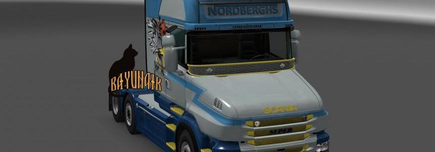 Scania T series Nordberghs skin 1.23