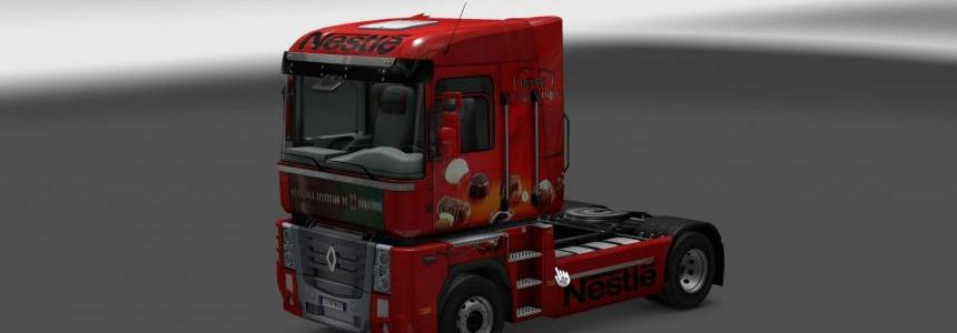 Skin Renault Magnum Red Box Nestle 1.24.x