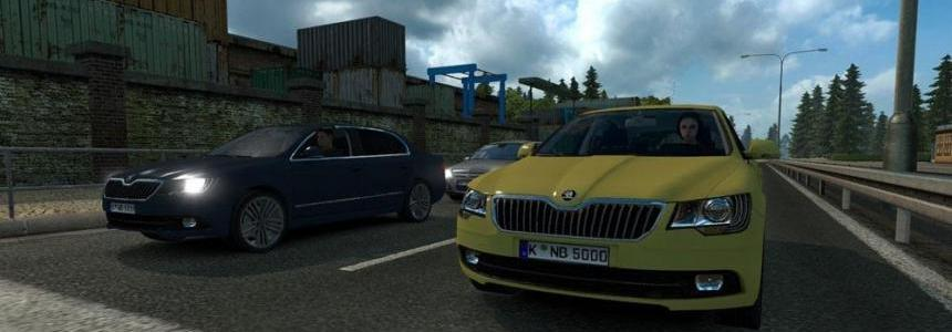 Skoda Superb AI Traffic