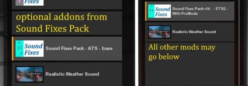 Sound Fixes Pack v15.3 (stable release)