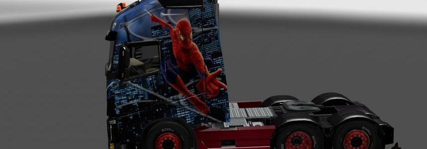 Volvo FH 2013 Spider-man skin 1.23