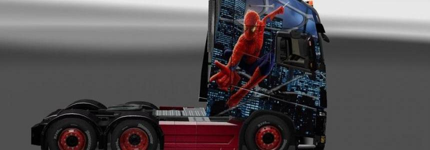 Volvo FH 2013 Spiderman Skin 1.23-1.24