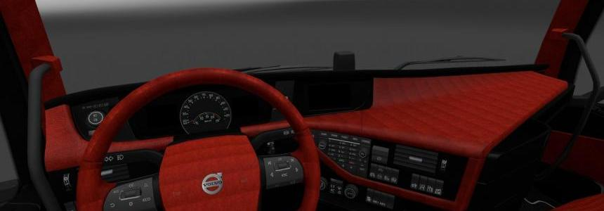 Volvo FH16 2012 Red/Black Interior v1