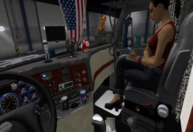 Freightliner Cascadia  cabin accessories addon V2.1.3