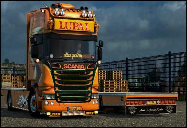 Scania Lupal Edition + Trailer + Sound v1.0 for 1.23.x