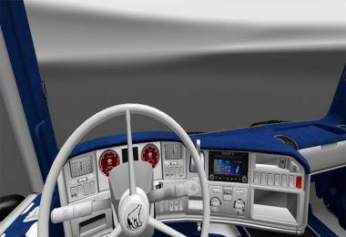 Scania RJL White-Blue Interior