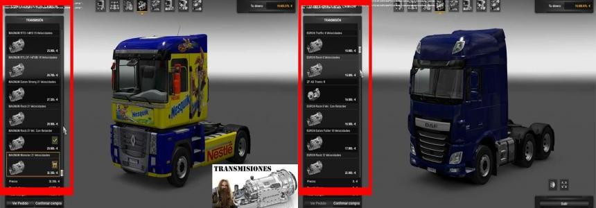 12 + 1 transmissions for all trucks Game 1.24.x